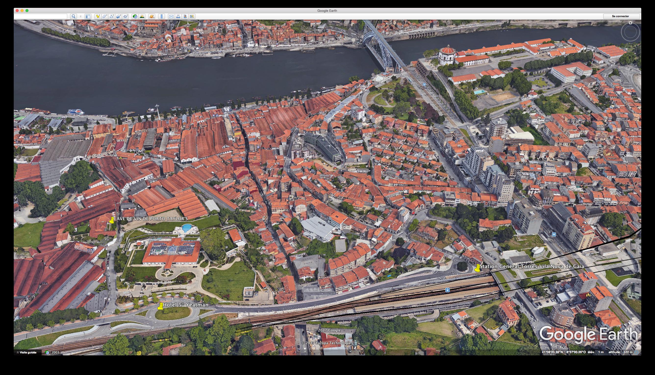 plan des rues porto
